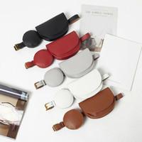 NoEnName-Null Vintage cintura Bloco de Fanny Mulheres PU Leather Belt cintura saco bolsa de viagem Hip Bum Bag Mulheres Mini Chest Tote Purse