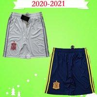 2020 2021 Spagna Pantaloncini da calcio Casa Blu Away White Asensio ISCO Ramos Morata Pantaloni da calcio 20 21 Espana Camisetas Pique Iniesta Diego Costa