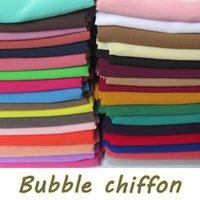15pcs / lot de haute qualité en mousseline de soie ordinaire Bubble Châles Bandeaux Hijab populaire d'été Scarfs musulmans
