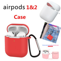 For Apple Airpods 1&2 Silicone Case Protector Cover with Ant...
