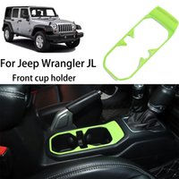Green Front Water Cup Holder Decorative Cover For Jeep Wrangler JL JT 2018 Factory Outlet High Quatlity Auto Internal Accessories