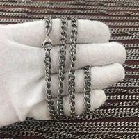 5,5 millimetri collana a catena elegante, moderno e semplice di titanio nessun nichel per la pelle sensibile