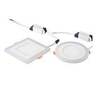 Embedded pannello tondo / quadro colorato LED RGB Pannello giù luce 6W 9W 16W 24W RGB pannello chiaro AC85-265V LED