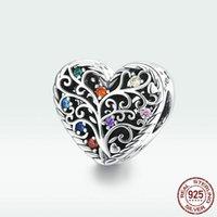أعلى جودة الأزياء والمجوهرات الحب على شكل قلب 925 الفضة الاسترليني المعلقات لسوار سحر حياة شجرة منخفضة أسعار الصين بالجملة