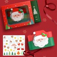 Père Noël enfant caméra double lentille 2.0 pouces IPS couleur de Noël 24MP HD Enfants Digital Video Toy Cameras fille caméscope pour garçon Birt