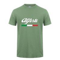 Alfa Romeo T 셔츠 남성 탑스 새로운 패션 짧은 소매 alfisti 티셔츠 티셔츠 맨스 Tshirt LH-069