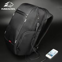 "Kingsons 15""17"" Laptop Backpack External USB Charge Computer Backpacks Anti-theft Waterproof Bags for Men Women 200918"