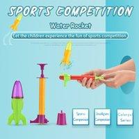 الأطفال المنافسة الرياضية صاروخ المياه لعبة قمع مضخة الترفيه لغز جودة عالية الرياضة الملونة لعبة هدية
