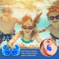 Earpplugs impermeables Silicona natación oreja tapones adultos con estuche para nadar buceo surfing bañado ducha de agua Set de deportes de agua