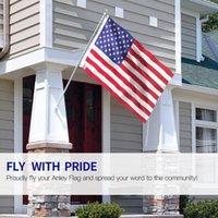 American Flag poliestere US Flag USA Banner nazionali Gagliardetti Bandiera degli Stati Uniti 90 * 150cm stampa fronte-retro Asole