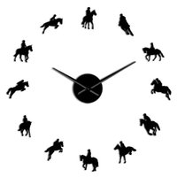 Arylic Horse Decorative Art Clock Race Diy Clocks Stickers E...