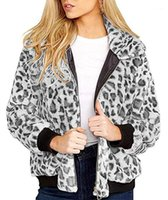 Hooded Jackets Casual Womens Leopard Printed Coats Fashion W...