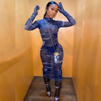 Parti Clubwear 2020 Hollow Out BODYCON Elbise 200.925 yazdır Eldiven ile Seksi Sıcak Maxi Elbise Kadınlar Uzun Kollu sayesinde See Mesh
