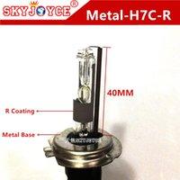 2X base métallique H7C-R 5000K 4300K 6000K 8000K 35W 12V H7C H7R xénon couche de revêtement caché court tube xénon H7 H7C accessoires métalliques
