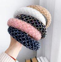 Headband colorido de cristal para Feito à Mão Cristal frisado Cabelo Esponja Banda Wedding Party nupcial Mulher Luxo headbands EEA2035