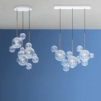 Nordic wongshi Moderne Klarglas Bubbles Kronleuchter Beleuchtung 90-260V Pfosten Luminaria Led Pendelleuchte für Wohnzimmer