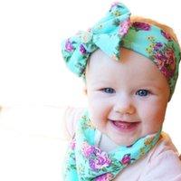 Akcesoria do włosów 1 pc 2021 Baby Girls kokardka Kępa Pałąk Toddler Kwiat Niemowląt Top Turban Band Floral Headwear
