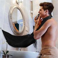 رجل الحمام المريلة السوداء العناية اللحية المتقلب الشعر الحلاقة المئزر للبيع الرجل ماء الزهور القماش التنظيف المنزلية الحماية الساخن 0703083