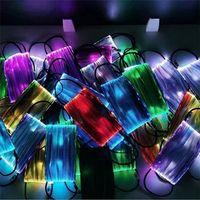 무료 DHL 빛나는 LED 페이스 마스크 PM2.5 필터 방진 크리스마스 마스크 파티 마스크 할로윈 루미 너스 마스크를 변경 7 색