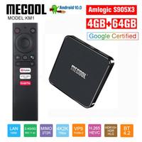 MECOOL KM1 4G DDR4 64G ROM 안드로이드 (10) TV 박스 Amlogic S905X3 2.4G / 5G 와이파이 4K BT 음성 제어 Google 인증 TV 상자