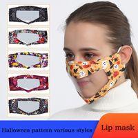 DHL di trasporto di modo adulto di Halloween Lip Lingua Mask visiva cotone antipolvere maschera di protezione affrontare la vita di protezione