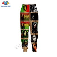 SONSPEE Unisex Long Pant Streetwear Adult Novelty Fashion Casual Trousers Singer Bob Marley 3D Printing Harajuku Men Sweatpants 200925