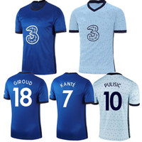 2021 Pulisic Abraham Lampard Kante Odoi Willan Giroud 홈 축구 유니폼 2021 멀리 마운트 카메인 드 축구 셔츠 남성