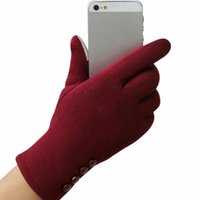 5 개의 손가락 장갑 여성 겨울 따뜻한 터치 스크린 공식 경우에 대 한 태블릿 전체 손가락 장갑 groves
