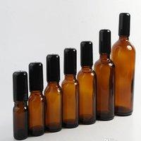 5ml 10ml 15ml 20ml 30ml 50ml nachfüllbare Dick Bernstein Flaschen Mini-Rolle auf Glas Verpackung Flasche mit Edelstahl-Rollen-Kugel Großhandel