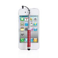 크리스탈 수축 식 스타일러스 유연한 용량 성 터치 펜 아이폰을위한 삼성 갤럭시 S3 S4 노트 2 3 방진 플러그 500pcs / lot