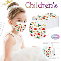 New Halloween Christmas kids Disposable Masks Three- layer fa...