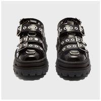 QWEDF 2019 летней женщины сандалии Платформа Женская обувь Ins Горячие бисквит Старый Обувь Заклепки Баотоу Trekking обувь Квартиры G3-100 Y200620