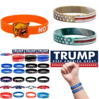 2020 pulsera de silicona pulsera Trump Donald Trump mantener a Estados Unidos Partido Banda Gran pulsera de silicona muñeca XD23939 favor