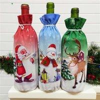 عيد الميلاد زجاجة النبيذ تغطية عيد ميلاد سعيد ديكور للمنازل 2020 عيد الميلاد الجدول ديكور عيد الميلاد هدية السنة الجديدة شخصية الحلي شحن مجاني