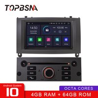 TOPBSNA 1 DIN Android 10 CAR Multimedia Player para 407 2004-2010 WiFi GPS Navigation Radio de radio Estéreo Auto 8 Core 4G + 64G