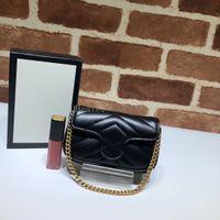 Vannogg Top Quality Women 5A Marmont Online Online Rafia Bolsa de hombro, 575161 Mini Tamaño 13 * 9 * 5 cm, ven con la caja de la bolsa de polvo DHL Envío gratis