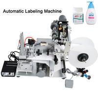 DHL grátis! Nomeado YTK-60D Óleo Essencial Tabletop automática simples Posição Rotulagem Máquina Mão Labeler Com Data Printer