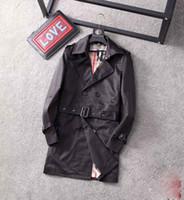 2020 NOUVEAU MODE NOUVEAU HOMME Slim Double boutonnage longue trench-manteau de trench-manteau de trench-manteau avec ceinture neuve