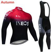 Kit de jersey cyclisme inéos 2020 Pro Team automne à manches longues vélo Vêtements de vélo VTT Vêtements de vélo de vélos 9D Gel rembourré Pants Pantalon Ropa Ciclismo