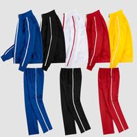 운동복과 남성 자켓 남성 운동복 클래식 스포츠웨어 긴 캐주얼 조깅 바지 정장 의류 2 피스 아시아 크기를 설정 슬리브