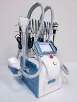 7 en 1 360 grados Cryolipólisis 3 Cryo Handles Fig Freezing Cryolipolysis Máquina de succión Pérdida de peso Rápido con cavitación 40K RF Laser