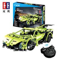 Venta caliente Plástico Control remoto de control de automóviles Bloque de juguete para niño al por mayor edificio juguete rc coche