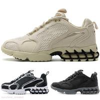 stussy x Nike Air Zoom Spiridon CAGE 2 Kalite Yakınlaştırma Spiridon Kafes 2 Kadın Erkek Kum Üçlü Beyaz Cardinal Kırmızı Limon venon Nefes Eğitmenler Sneakers Ayakkabı Koşu