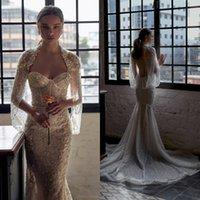 2021 Julie Vino Mermaid Wedding Dresses Bridal Gowns With Wrap Lace Appliqued Crystal Gorgeous Robes De Mariée