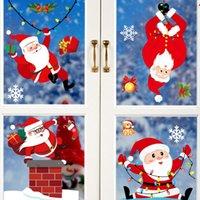 Weihnachtsschmuck Glas elektrostatische Aufkleber Weihnachtsfeier Dekoration Schneeflocke-Fensteraufkleber Weihnachtskugeln freies Schiff hängen