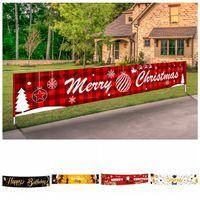 Feliz Natal do Dia das Bruxas da bandeira Decorações de Natal para Casa Outdoor Store bandeira da bandeira da manta Papai Noel que puxa a bandeira Bandeiras RRA3588