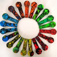 Colorful tubo in silicone graffiti silicone fumatori silicone del tubo di fumo del tubo di tabacco con l'acciaio inossidabile Tubi Bowl a mano in silicone fumatori Herb