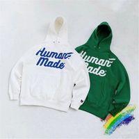 Büyük boy Beyaz Yeşil Hoodie Erkekler Kadınlar 1 1Bir kalite Streetwear Kazak