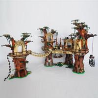 05047 US En stock 1990pcs Star Toys Wars Ewok Village Building Blocks Bricks Toys 10236 180016 regalos