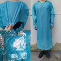CPE ملابس واقية المتاح عزل أثواب الملابس البدل مطاطا الكفات مكافحة الغبار القابل للتصرف عباءة CYZ2756 الشحن البحري